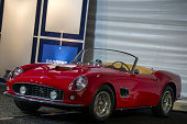 Ferrari 250 GT SWB California Spyder automobile is displayed during the 2014 Pebble Beach Concours d'Elegance in Pebble Beach California US on...