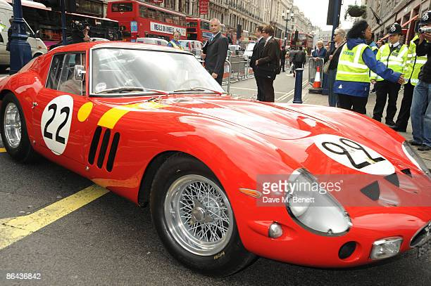 A Ferrari 250 GTO is displayed during the launch of the UK's first Ferrari store in Regent Street on May 6 2009 in London England