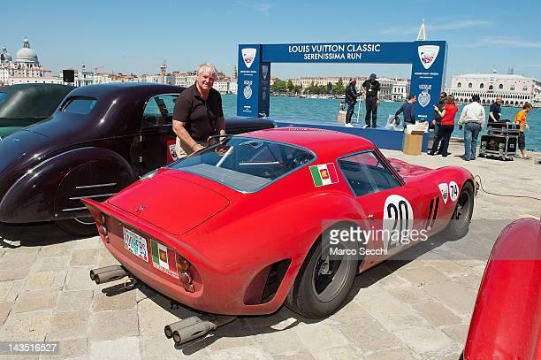 Ferrari 250 GTO worth $30 millions arrives to the island of San Giorgio Maggiore during the 7th Louis Vuitton Classic Serenissima Run on April 28...