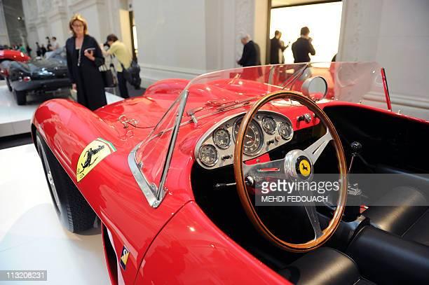 A Ferrari 250 Testa Rossa of 1958 is shown on April 27 2011 at the Musee des Arts Decoratifs museum in Paris during the 'L'art de l'Automobile'...