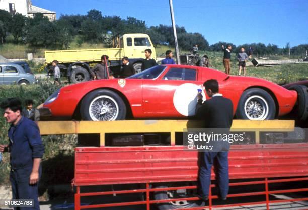 Ferrari 250LM Number painting at Targa Florio
