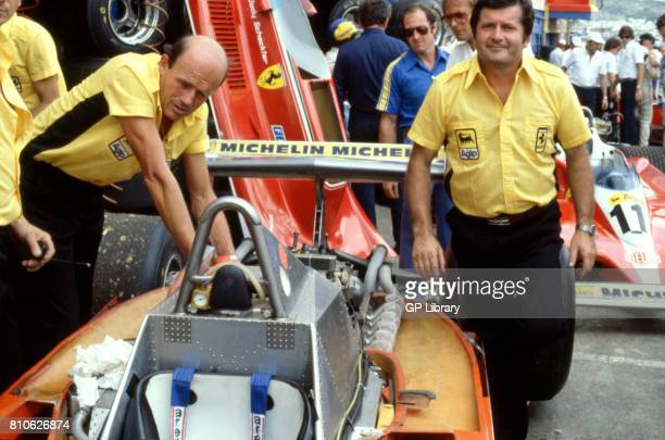 Ferrari 312T4 in the Pits at the South African GP