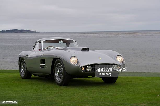 Ferrari 375 MM Scaglietti Coupe owned by Jon Shirley is displayed for photographs after being awarded Best of Show at the conclusion of the 2014...