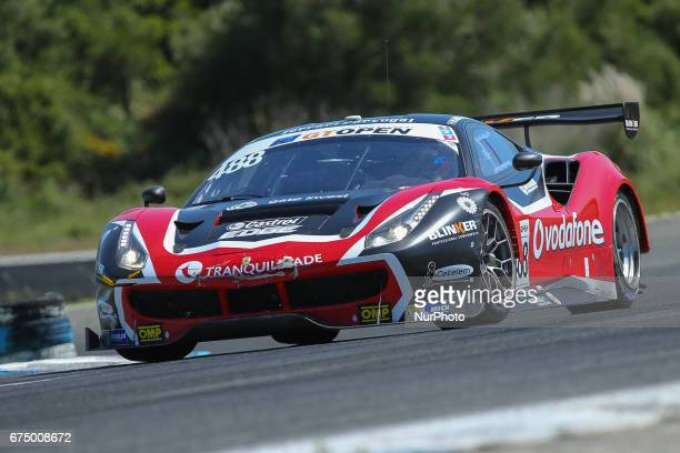 Ferrari 488 GT3 of Spirit of Race driven by Mikkel Mac and Miguel Ramos during race 1 of International GT Open at the Circuit de Estoril Portugal on...
