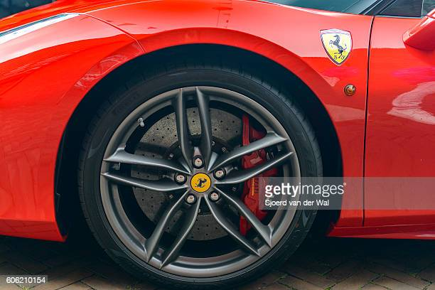 Ferrari 488 GTB Italian sports car detail