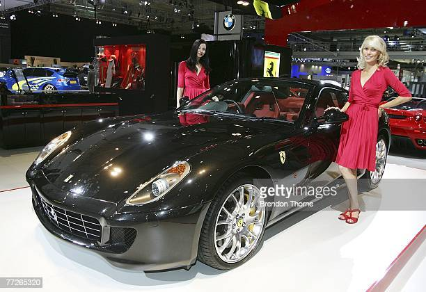 Ferrari 599 GTB Fiorano F1 is displayed at the 2007 Australian International Motor Show at the Sydney Convention and Exhibition Centre on October 11...