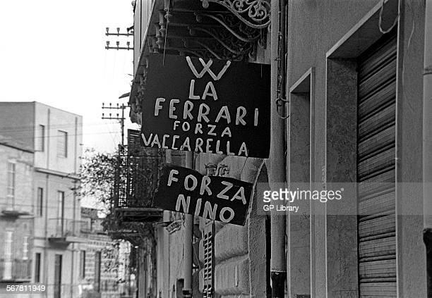 Ferrari and later Alfa Romeo works driver Nino Vaccarella was a local Sicilian lad grew up in Campofelice was a school headmaster in Palermo Graffiti...