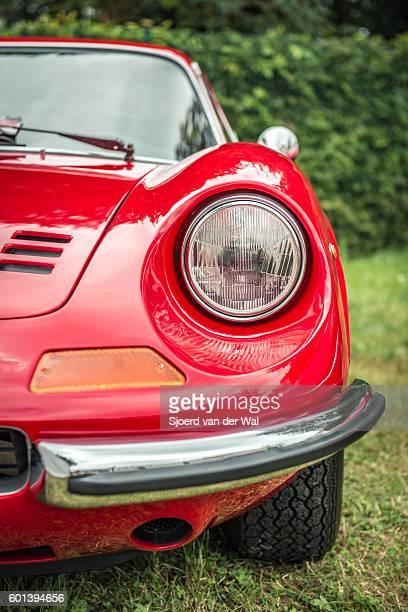 Ferrari Dino 246 GT Italian vintage sports car detail
