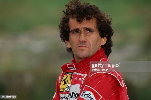 Ferrari driver Alain Prost at the 1991 Belgian Grand Prix