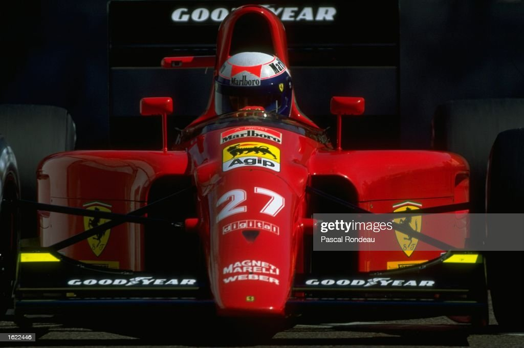Ferrari driver Alain Prost of France in action during the US Grand Prix in Phoenix USA Prost finished second Mandatory Credit Pascal Rondeau /Allsport