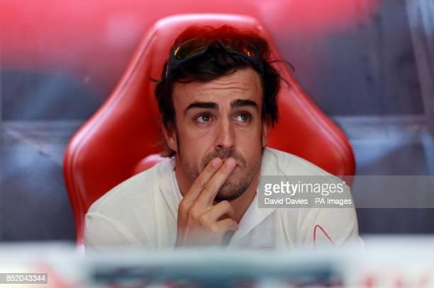 Ferrari driver Fernando Alonso during practice day for the 2013 Italian Grand Prix at the Autodromo di Monza in Monza Italy