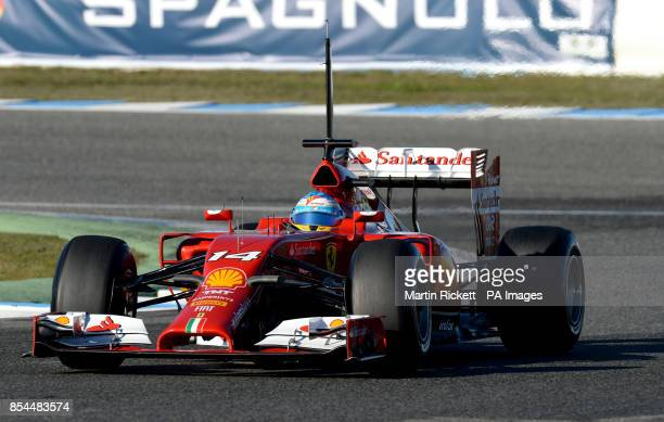 Ferrari driver Fernando Alonso during the 2014 Formula One Testing at the Circuito de Jerez Jerez Spain