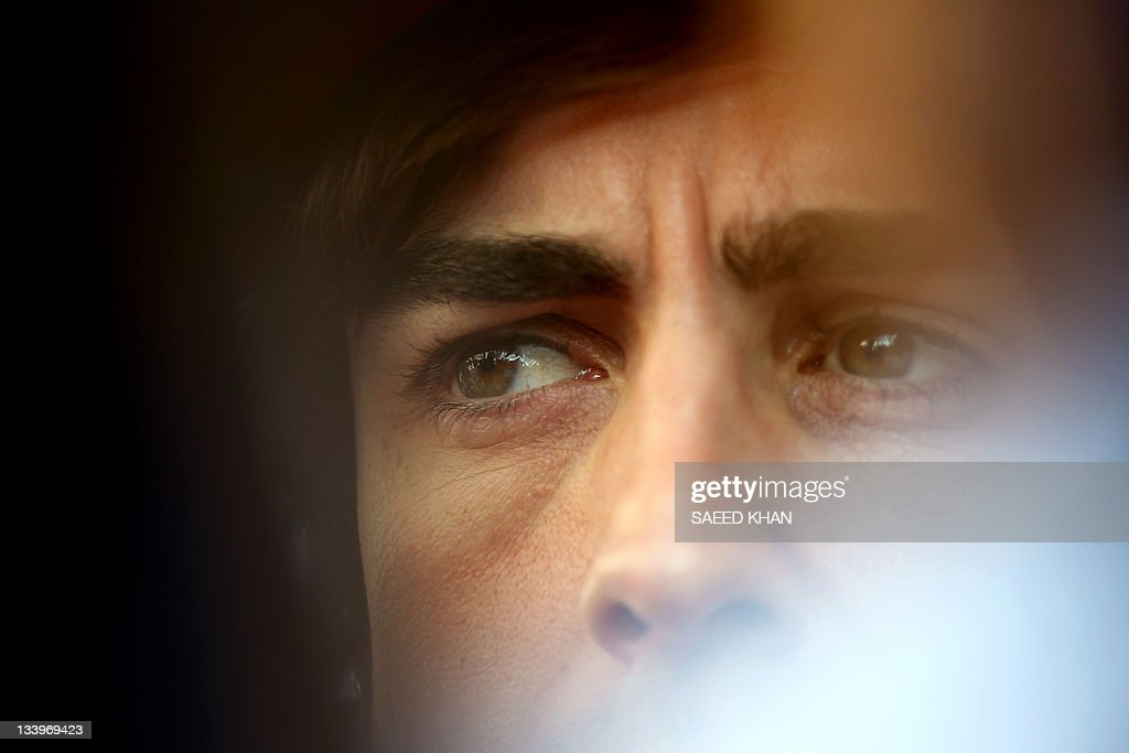 Ferrari driver Fernando Alonso of Spain speaks to the media ahead of the Formula One Korean Grand Prix in Yeongam on October 13 2011 AFP PHOTO /...