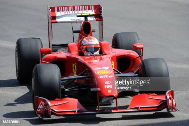 Ferrari driver Kimi Raikkonen during practice at the Circuit de Monaco