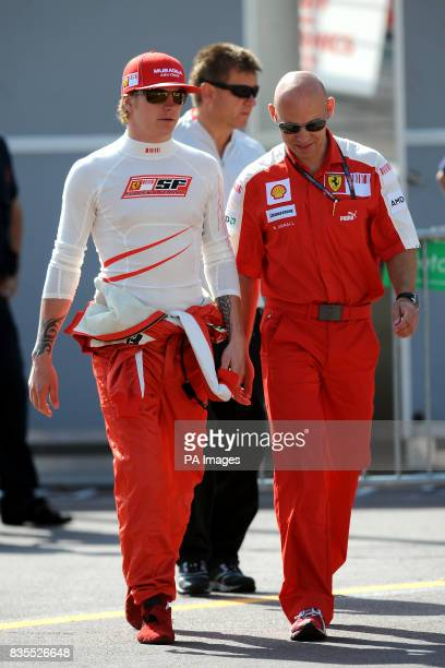 Ferrari driver Kimi Raikkonen in the paddock during practice at the Circuit de Monaco