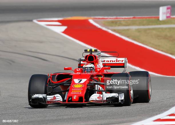 Ferrari driver Kimi Raikkonen of Finland during third practice session classification for the US Grand Prix at Circuit of The Americas on October 21...