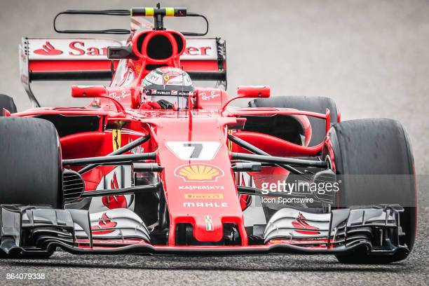 Ferrari driver Kimi Raikkonen of Finland exits turn 14 during morning practice for the Formula 1 United States Grand Prix on October 20 at the...