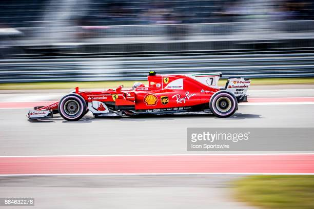Ferrari driver Kimi Raikkonen of Finland exits turn 15 during afternoon practice for the Formula 1 United States Grand Prix on October 20 at the...