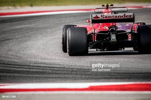 Ferrari driver Kimi Raikkonen of Finland races through turn 13 during afternoon practice for the Formula 1 United States Grand Prix on October 20 at...