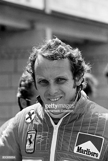 Ferrari driver Niki Lauda at the Dutch Grand Prix Zandvoort 22nd June 1975 He started from pole but finished one second behind James Hunts ever more...
