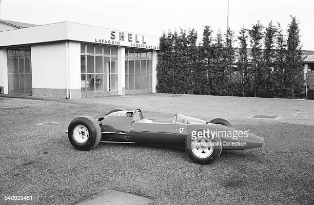 Ferrari Factory Maranello April 1964 The new Ferrari F1 car the 158/64