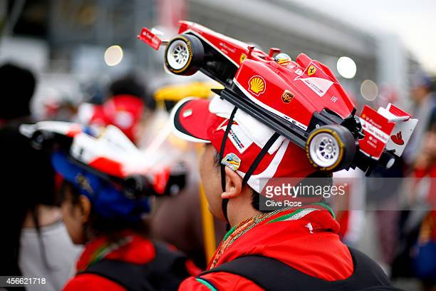 Ferrari fan attends Qualifying for the Japanese Formula One Grand Prix at Suzuka Circuit on October 4 2014 in Suzuka Japan