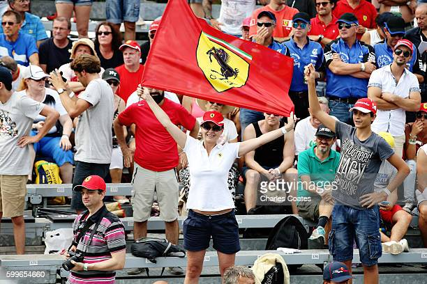 Ferrari fan during the Formula One Grand Prix of Italy at Autodromo di Monza on September 4 2016 in Monza Italy