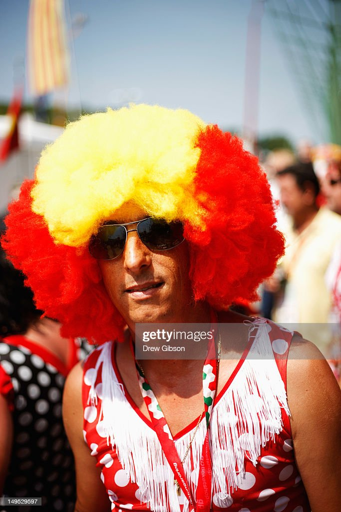 Ferrari fans are seen before the Hungarian Formula One Grand Prix at the Hungaroring on July 29, 2012 in Budapest, Hungary.