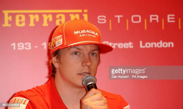 Ferrari Formula One driver Kimi Raikkonen during the launch of the Ferrari Store on Regent Street central London