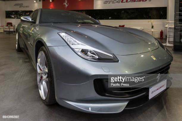Ferrari GTC4 Lusso Supercar and luxury sports car on exhibition during Turin Car Show