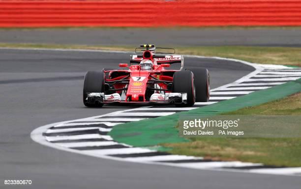 Ferrari Kimi Raikkonen during second practice of the 2017 British Grand Prix at Silverstone Circuit Towcester