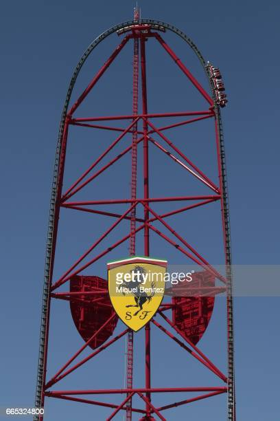 Ferrari main attraction new Ferrari Land at Port Aventura World on April 6 2017 in Tarragona Spain