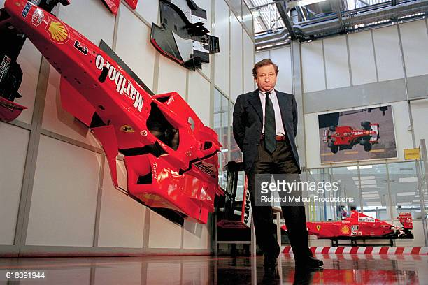 Ferrari Managing Director Jean Todt gives a guided tour behind the scenes at the Ferrari production factory