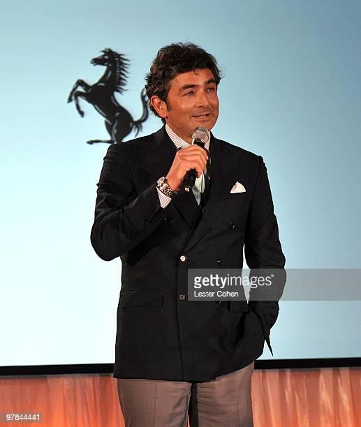 Ferrari North America CEO Marco Mattiacci attends the Ferrari 458 Italia auction event to benefit Haiti held at Fleur de Lys on March 18 2010 in Los...