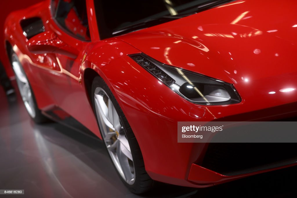 A Ferrari NV 488 luxury automobile sits on display during the second media preview day of the IAA Frankfurt Motor Show in Frankfurt, Germany, on Wednesday, Sept. 13, 2017. The 67th IAA opens to the public on Sept. 14 and features must-have vehicles and motoring technology from over 1,000 exhibitors in a space equivalent to 33 soccer fields. Photographer: Simon Dawson/Bloomberg via Getty Images