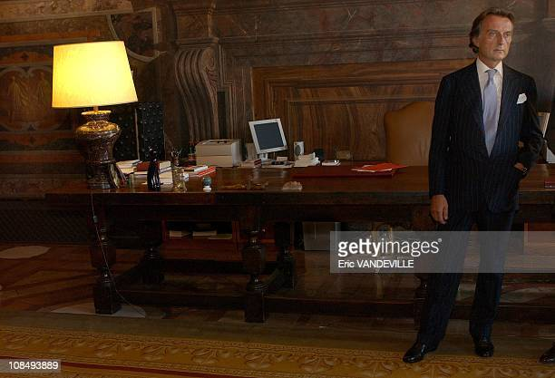Ferrari President Luca di Montezemolo received the French Legion d'Honneur award at the Embassy of France in Rome Italy on July 21st 2005