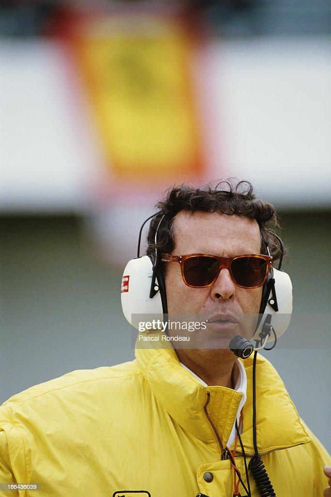 Ferrari Sporting Director Cesare Fiorio during pre season testing on 10th February 1990 at the Autodromo do Estoril in Estoril Portugal