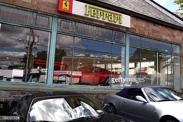 Ferrari sports cars are displayed at a dealership in the wealthy town of Greenwich where in 2006 the median price for a singlefamily home was $17...