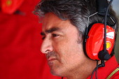 Ferrari Team Principal Marco Mattiacci looks on in the garage during final practice ahead of the Austrian Formula One Grand Prix at Red Bull Ring on...
