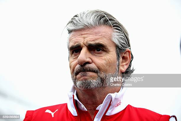 Ferrari Team Principal Maurizio Arrivabene in the Paddock during qualifying for the Canadian Formula One Grand Prix at Circuit Gilles Villeneuve on...