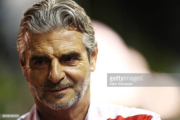 Ferrari Team Principal Maurizio Arrivabene in the Paddock during previews ahead of the Formula One Grand Prix of Singapore at Marina Bay Street...