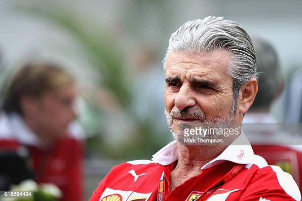 Ferrari Team Principal Maurizio Arrivabene in the Paddock during previews to the Formula One Grand Prix of Mexico at Autodromo Hermanos Rodriguez on...