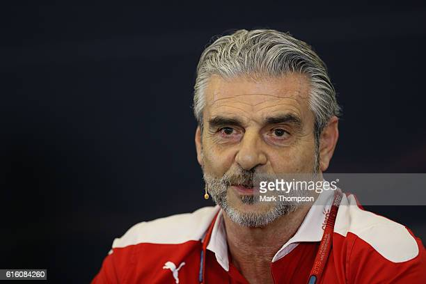 Ferrari Team Principal Maurizio Arrivabene in the Team Principals Press Conference during practice for the United States Formula One Grand Prix at...