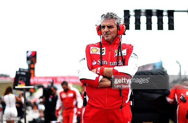 Ferrari Team Principal Maurizio Arrivabene looks on as he stands on the grid before the United States Formula One Grand Prix at Circuit of The...