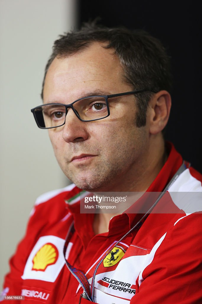 Ferrari Team Principal Stefano Domenicali attends the official press conference following practice for the Brazilian Formula One Grand Prix at the Autodromo Jose Carlos Pace on November 23, 2012 in Sao Paulo, Brazil.