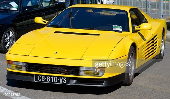Ferrari Testarossa Supercar Front View Stock Photo Getty