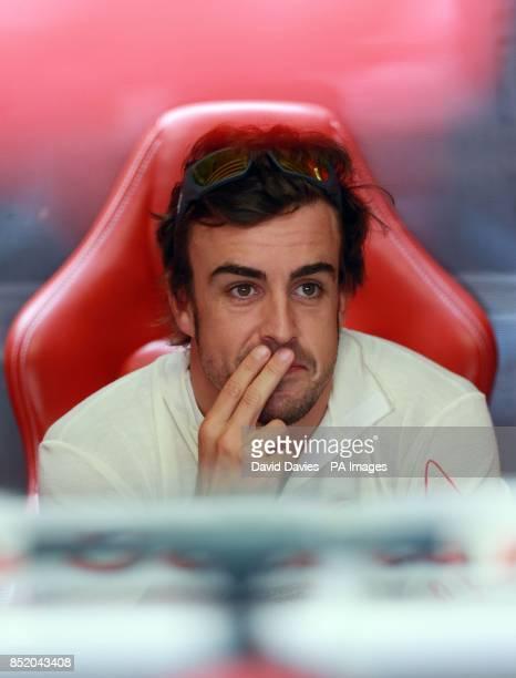 Ferrari's Fernando Alonso during practice day for the 2013 Italian Grand Prix at the Autodromo di Monza in Monza Italy