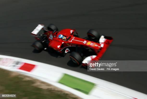 Ferrari's Fernando Alonso during qualifying day for the 2013 Italian Grand Prix at the Autodromo di Monza in Monza Italy