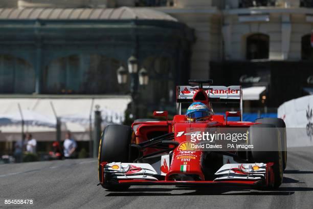 Ferrari's Fernando Alonso during Qualifying for the 2014 Monaco Grand Prix at the Circuit de Monaco Monte Carlo Monaco