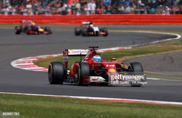 Ferrari's Fernando Alonso during the 2014 British Grand Prix at Silverstone Circuit Towcester PRESS ASSOCIASTION Photo Picture date Sunday July 6...
